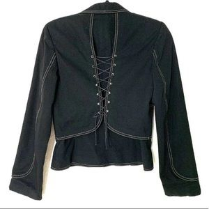 Cynthia Steffe Lace Up Back Jacket Blazer Small